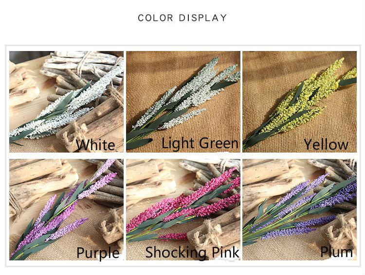 Artificial Lavender vivid flower in 6 colors for home decoration wedding and Christnmas Decoration