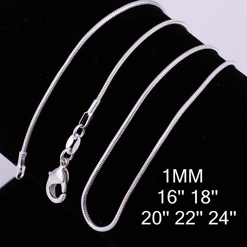 Hot Cheap Classic Fashion Male Chain Necklace Silver Plated Jewelry Necklace For Women Men Unisex Bijouterie Gifts Wholesale