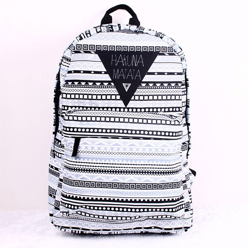 2018 spring and summer new fashion trend can be customized black and white  striped print canvas 3db3c0cdd44d7