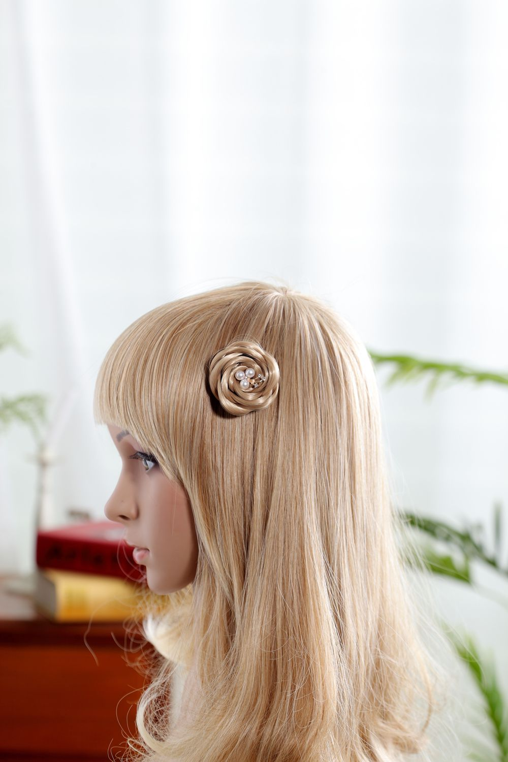 Pure hand-made, wigs, hair styling products, multi-function, can be a bud