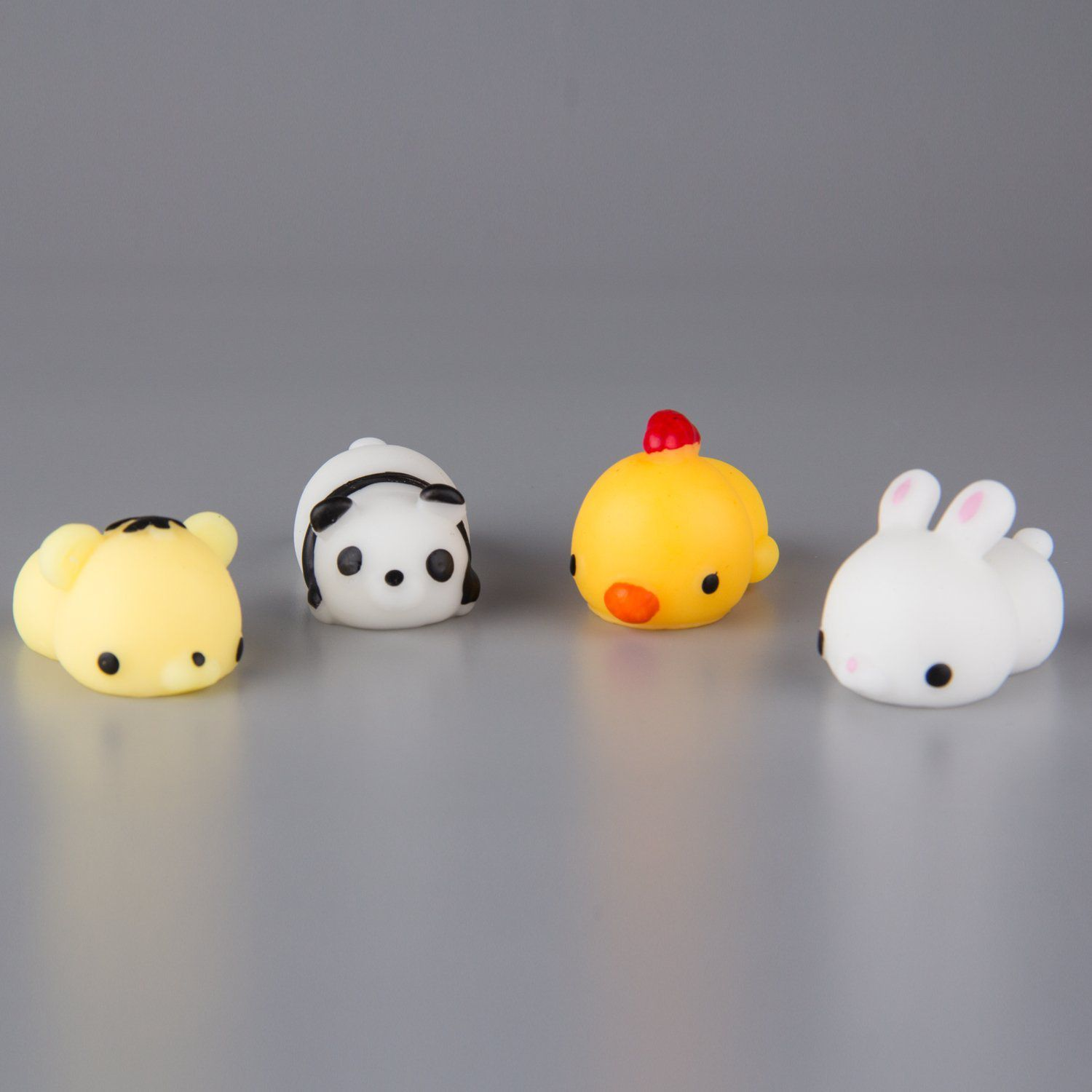 Cute Animal Squishy Kawaii Mini Soft Squeeze Toy Fidget Hand Decompression for Kids Gift Stress Relief Decoration Animal Healing Squishies