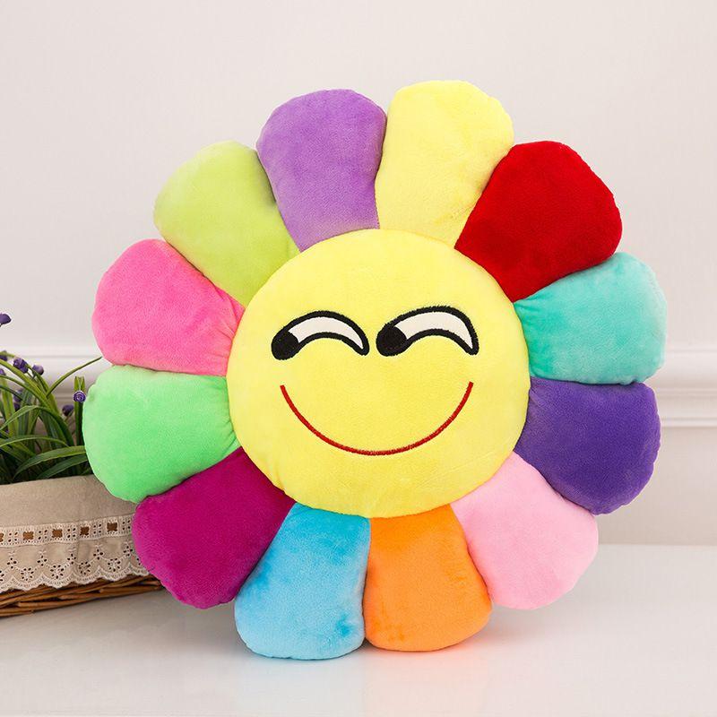 Emoji Flowers Stuffed Animals Plush toy Dolls Angry Smile Cute Kiss Cute Lovely Children Cushion Fruit Pillows sunny cushions 30CM 40CM 50CM