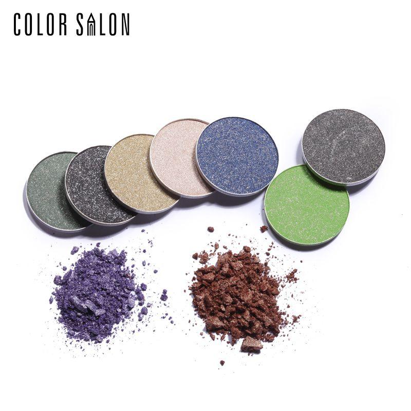 Color Salon eyeshadow powder Professional Diamond Eye Shadow bling shinny Palette MakeUp Waterproof Shimmer Eyeshadow 2.7g
