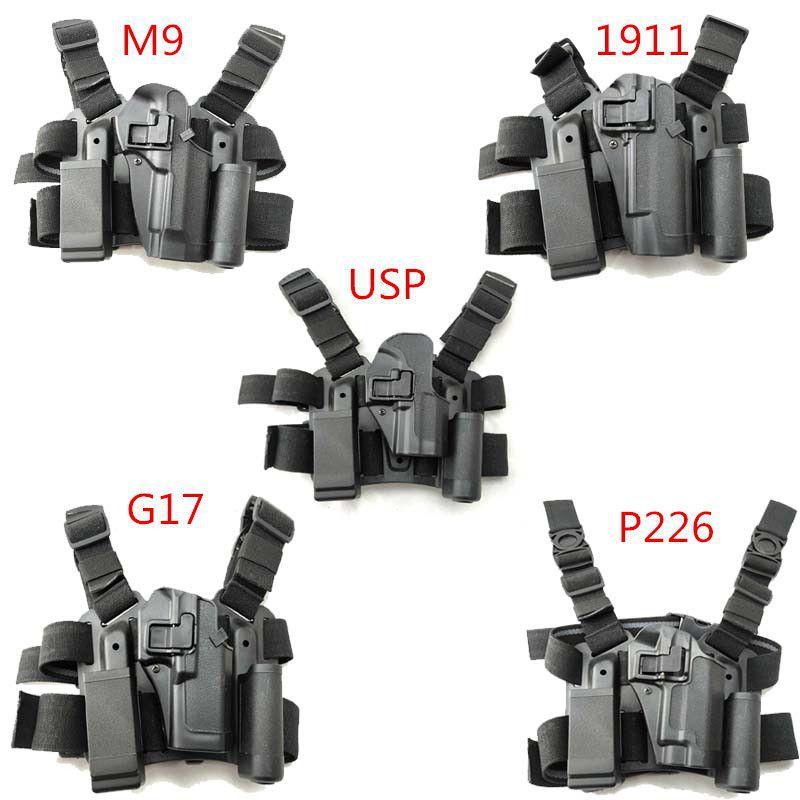 Cross-border Blast CQC Tactical Leg Holster Quick Pulling Gun Set 1911/92/17 / P226 / USP Leg Tie Factory Direct Selling