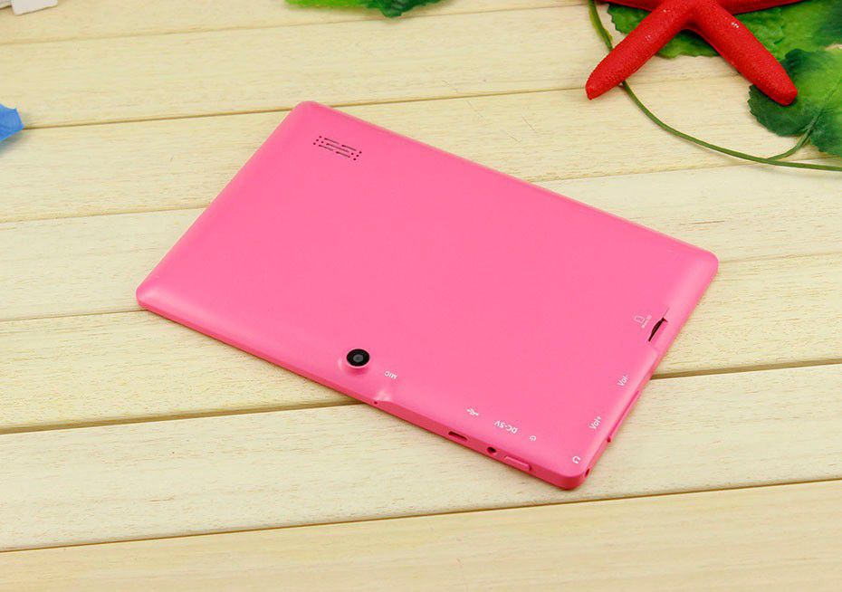"7"" Allwinner A33 Quad Core Q88 tablet pc android 4.4 1.2GHz 1GB RAM 16GB ROM Bluetooth Wifi 6 colors"