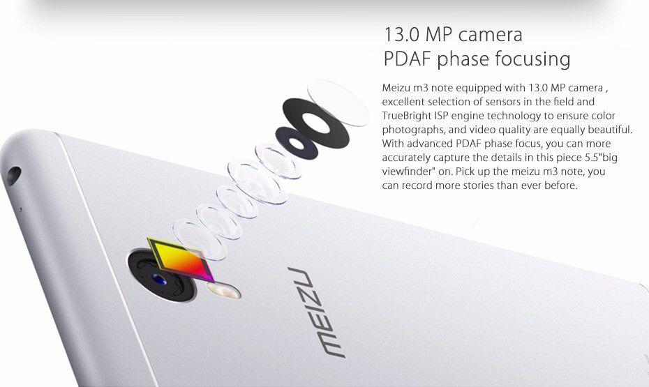 "Meizu M3 Note Prime 4G LTE Android 5.1 MTK Helio P10 Octa Core 3GB 32GB 4100 mAh 5.5"" 1920x1080 Fingerprint Cell Phone"