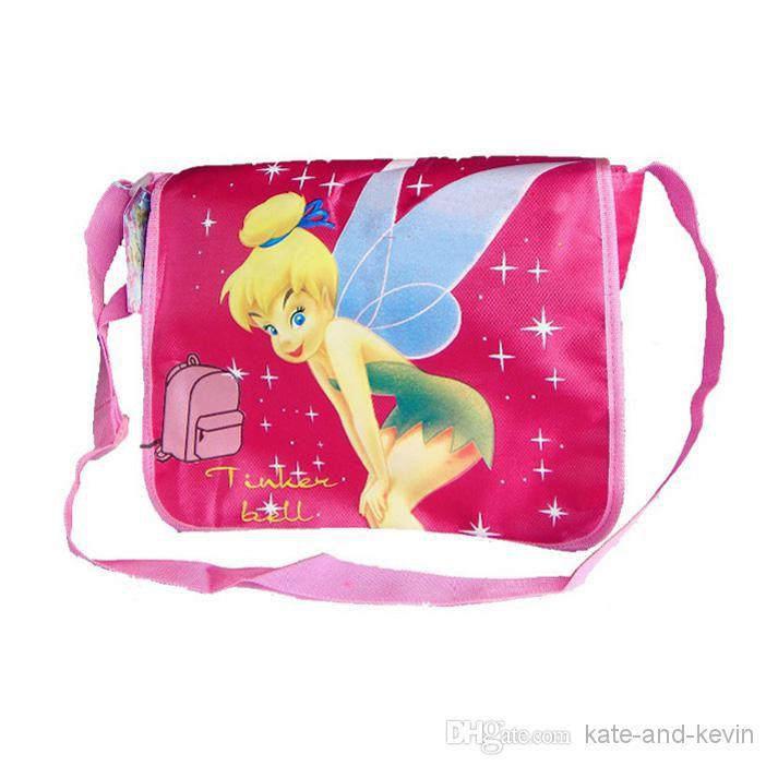 Hot sale Free shipping Nylon Tinkerbell Fairy Shoulder Side Bag Child School Bag