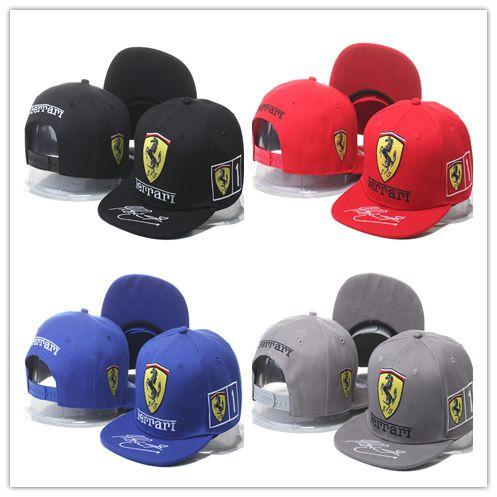 Ferrari Snapback hats Ferrari Automobile chapeau Baseball Caps F1  automobile race Ferrari Souvenir Cap Signature Edition Outdoor Sport Hat 26e2d6d8099