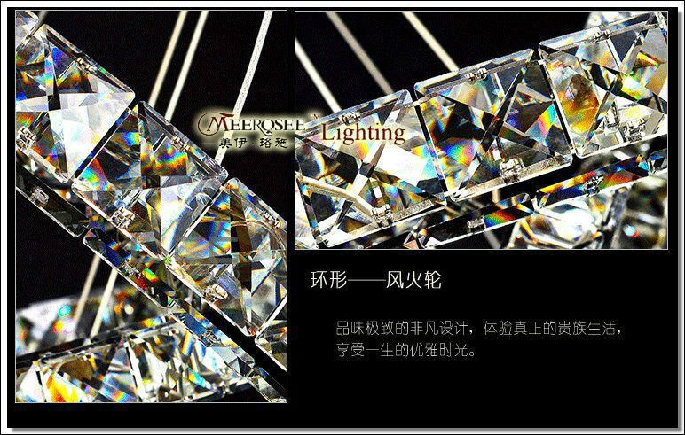 Hot sale Diamond Ring LED Crystal Chandelier Light Modern LED Lighting Circles Lamp 100% Guarantee Fast shipping