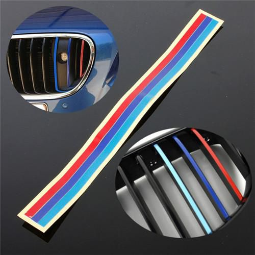 3 Color Grille Vinyl Strip Sticker Decal For BMW M3 M5 series 1 to series 7 Free shipping order<$18no track
