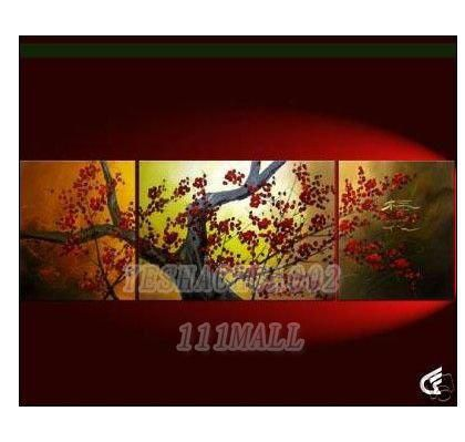 oil painting Small wholesale Modern abstract art canvas adornment 100% hand painted landscape wall art set A49