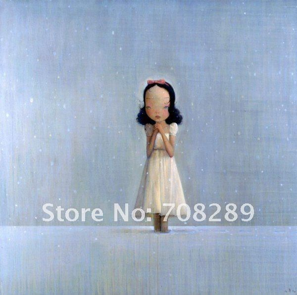 sexy Modern home decoration picture angels girl Figure abstract oil painting on canvas art present 100% hand painted liuye 42