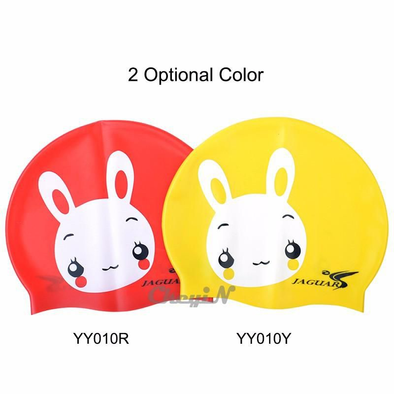 Cute Cartoon Comfortable Swimming Cap Silicone Elastic Sports Swim Hats Swim Pool Caps for Children Protect Hair 0.25-YY010 order<$15 no tra