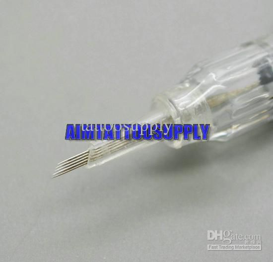 Nouveau 100pcs permanent makeup tattoo needles slope needle high quality free shipping