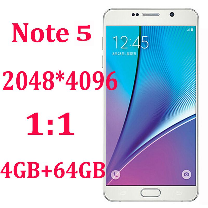 """HDC 1:1 Note 5 N9200 5.5"""" Android 5.1 MTK6572 Dual Core Smartphone (Show 4GB RAM 64ROM) Note5 4G LTE 8.0MP GPS Unlocked 3G Smart Cell Phone"""