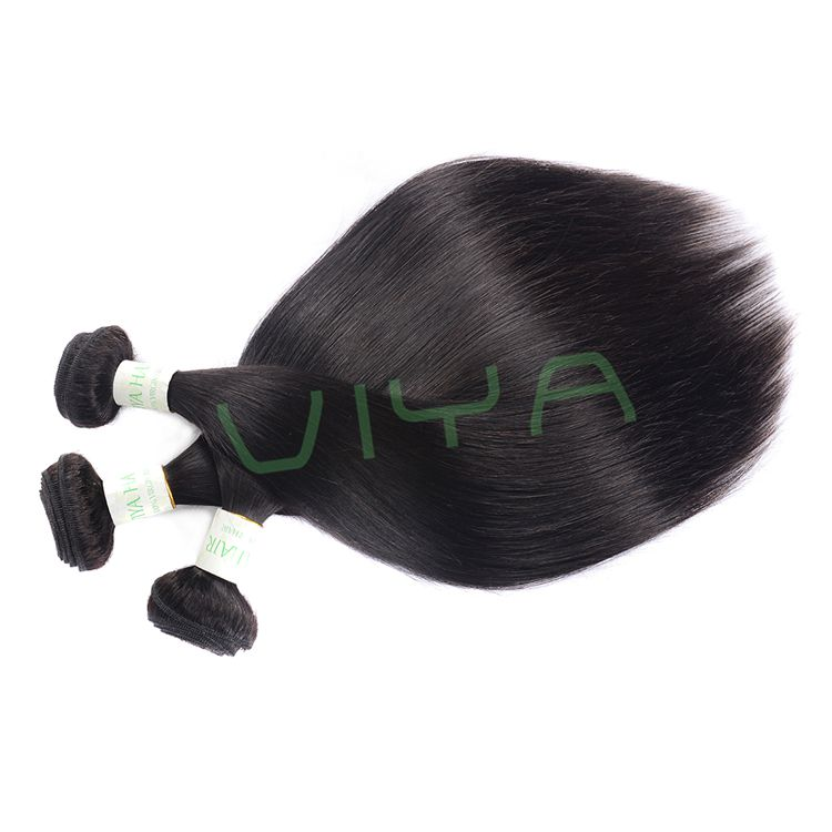 VIYA Indian Straight Hair Extension Human Hair Bundles Non Remy Hair Weave 3 Piece 10-30inches Natural Color WY0901H