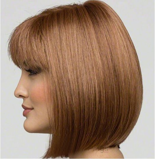 VIYA Women Brown Wigs Short Bobo Wigs Human Hair Heat Resistant Straight Wig WY0925B
