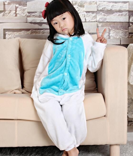 Baby Boys Girls Pajamas Autumn Winter Children Flannel Animal Funny Pink Blue Rabbits Pajamas Kid Onesie Sleepwear KD-001