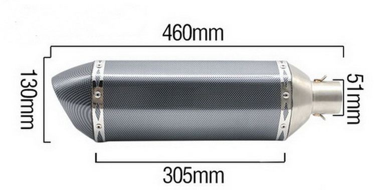 Stainless Steel Slip-On Exhaust Pipe Muffler Titanium Carbon Fiber for Motorcycle Nice Sound