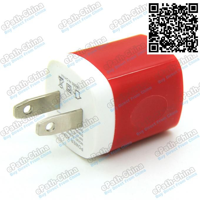 Candy Colorful US Plug USB Power Wall Home Travel Charger Adapter For iPhone 6 6Plus 5 5S 4 4S Smartphone