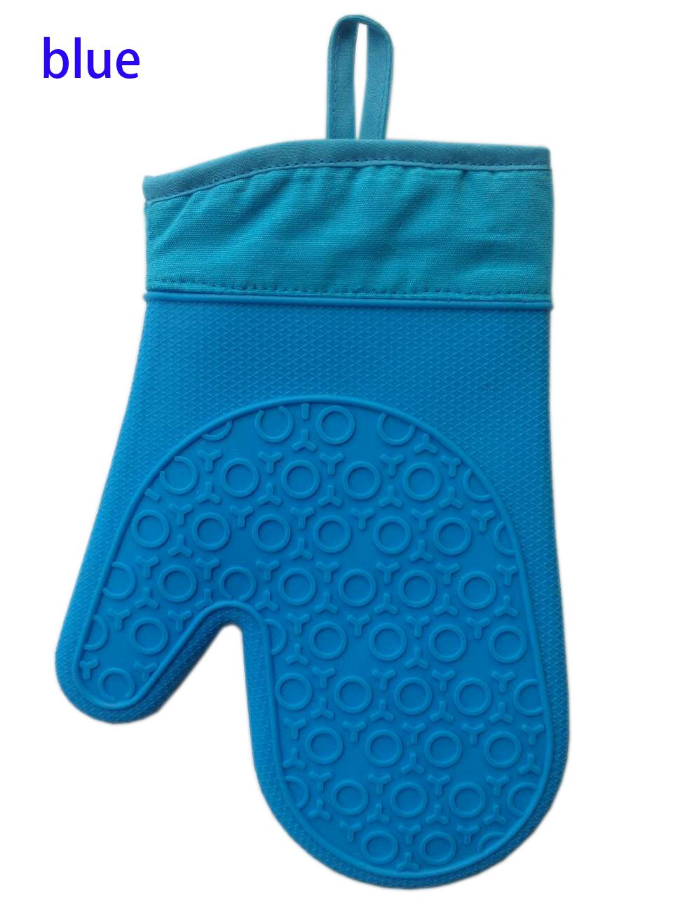 11inch silicone cotton heat resistant anti-slip 100% cotton filling oven mitt oven glove