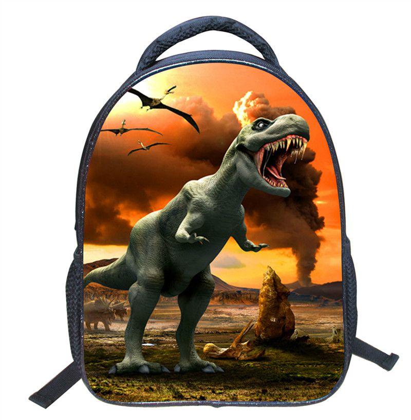 Dinosaur School Bags 36CM 14.3inch Cartoon Animals pig Panda Monkey Backpacks Plush Shoulder Bag Schoolbags Toddler Monster Tyrannosaurus
