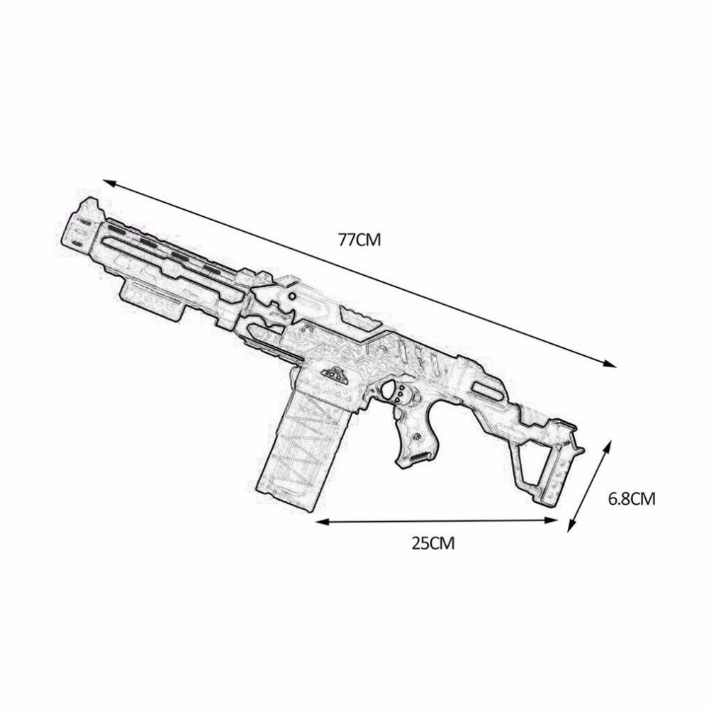 Nerf Gun Soft Bullets Toy Gun Suit for Nerf Toy Electric Gun Arme Shooting Guns Pistol Sniper Rifle 20 Bullet 1 Target Christmas Gifts