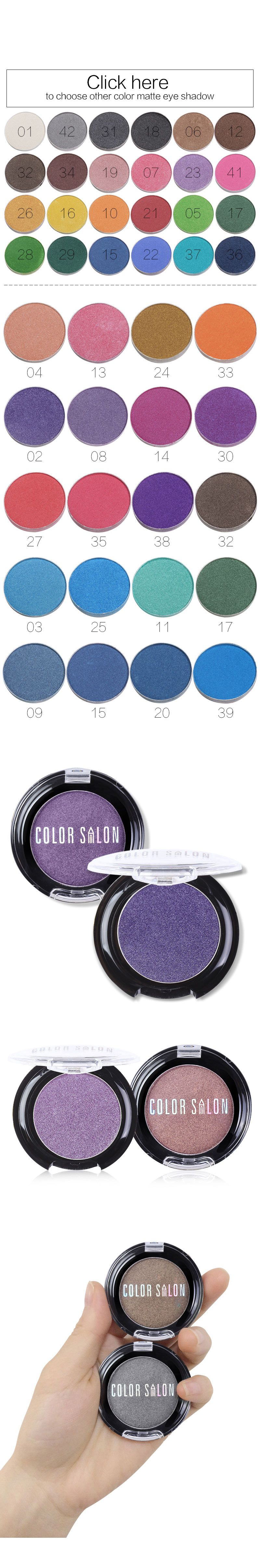 Color Salon Shimmer eyeshadow Radiant Palette Luminous Pigment Eye Shadow Makeup Professional Brand Beauty Make Up Cosmetic