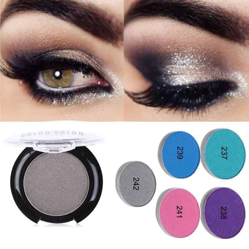 Fashion Color Salon eyeshadow powder Professional Diamond Eye Shadow crystal eyeshaow powder MakeUp Waterproof Shimmer Eyeshadow 2.7g
