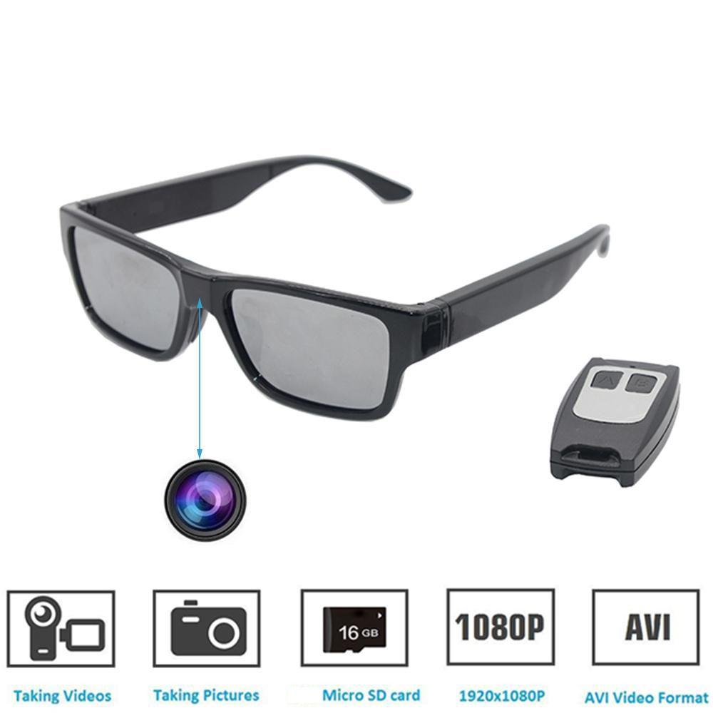 e91c89428ff Sunglasses Camera Remote Control and Touch Switch Full HD 1080P with No  Hole Mini Cam.