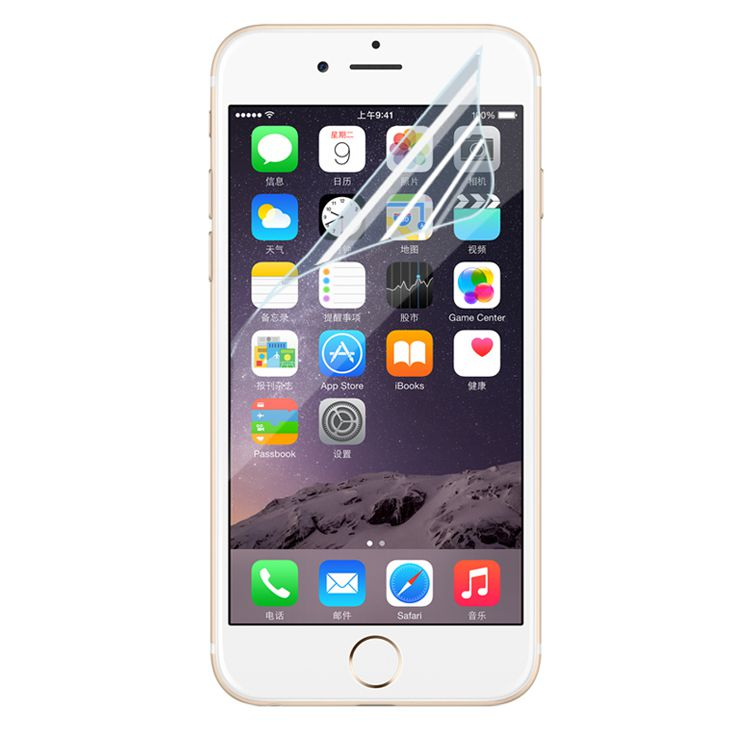 Front Transparent Clear LCD Screen Protector Guard Film with Cleaning Cloth For iPhone 6 6S Plus SE 5S 4S Note 5 4 3 Galaxy S6 S5 S4 100pcs