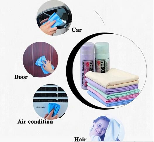 Germany PVA Liquid Absorber Shammy Leather Sheet Home Supply Windows Glazing Cleaning Drying Brushes Scouring Scrubber Cloth