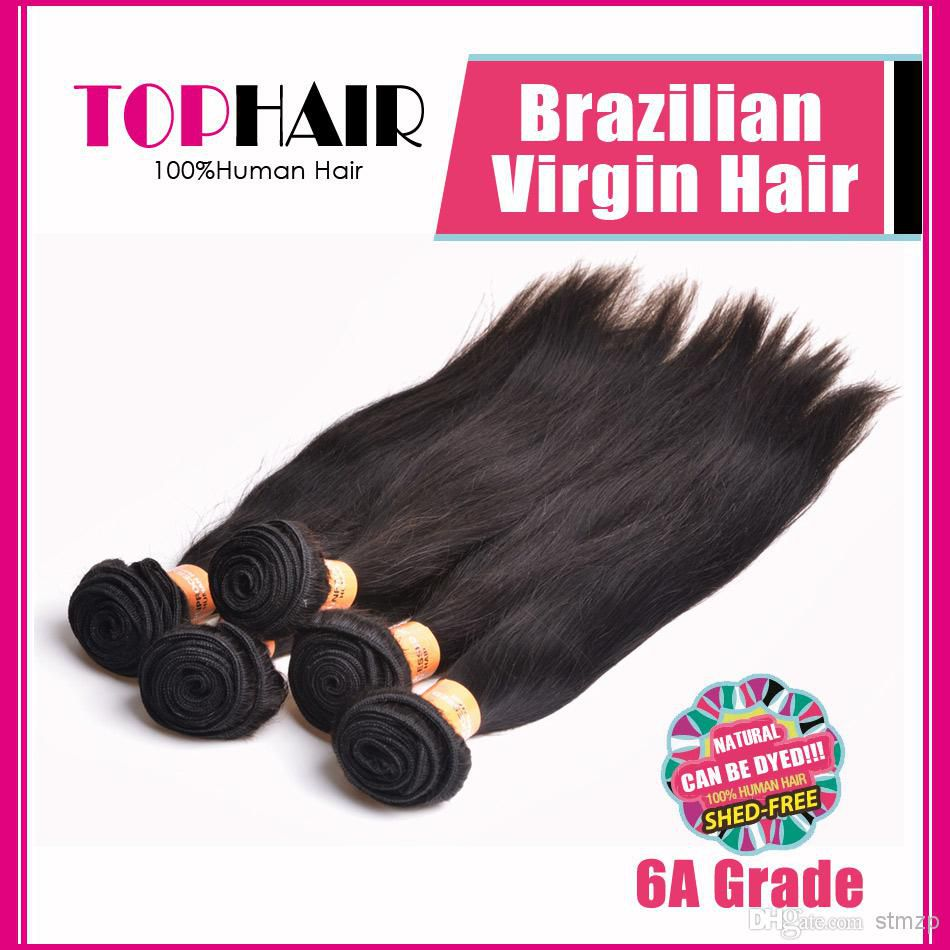 Store Opening Sale! 8-30inch 6A Grade Silky Straight Brazilian Remy Virgin Hair 3 Bundles Brazilian Straight Hair Weaves Extensions Natural