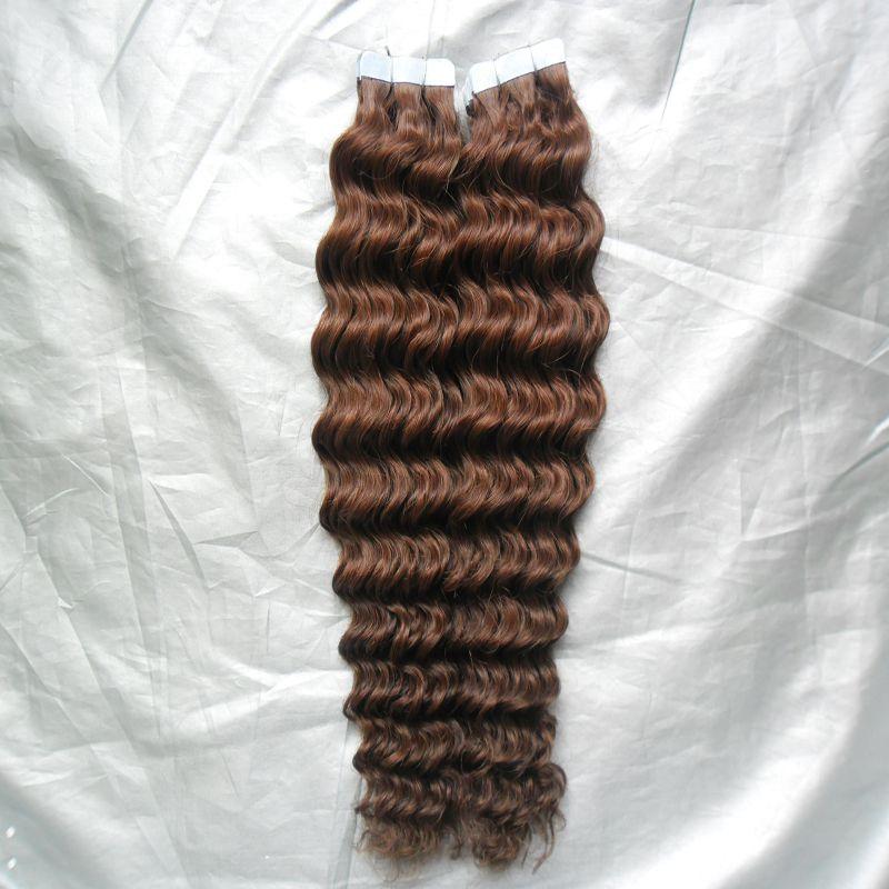 10 28 Tape Hair Extensions Virgin 100g Human Hair Tape In Hair