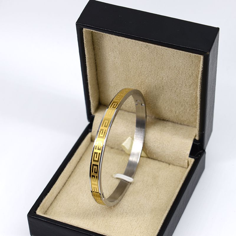 Imitation Cartier gold stainless steel bracelet Rune paragraph