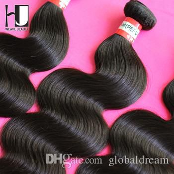 6A Peruvian Virgin Hair Body Wave 8-28 inch 3pcs/lot H J Peruvian Virgin Hair Weave Free Shipping Queen hair products