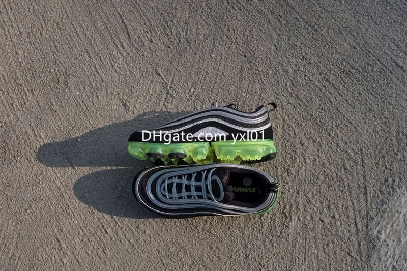 2018 New VaporMax 97 Silver Bullet Half-Blood Sports Running Shoes for Men Women 97s vapor Black White Gold Green trainers Sneakers EUR36-46