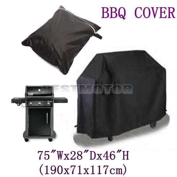 Large Size Waterproof Barbecue BBQ Cover Grill Outdoor Dust Rain Protective 190x71x117cm order<$18no tracking