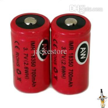 AW IMR14500 18350 18490 18500 18650 Battery Protected Rechargeabl Battery 3.7V 500mah 700mah 2000mah For Ecigarette Free Shipping