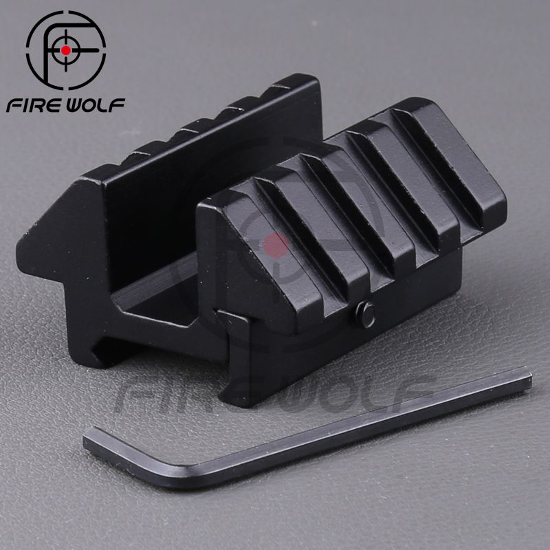 Tactical Heavy Duty Dual 45 Degree 25.4mm Rail Dovetail Weaver Scope Mount Picatinny Hunting Accessories