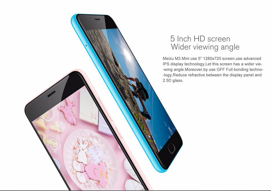 "Original Meizu M3 Mini 4G LTE MTK MT6750 Octa Core 5.0"" 2GB 16GB 13.0MP Camera Cell Phone"