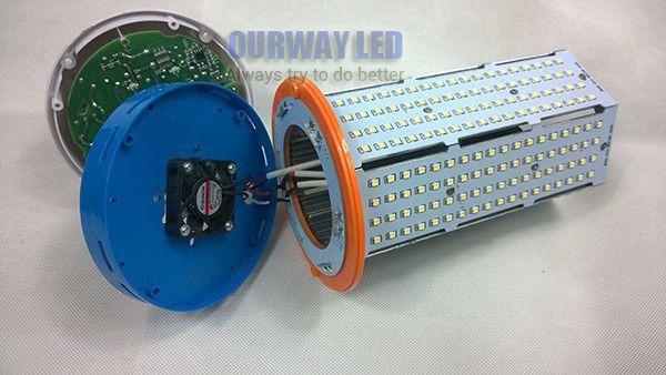 High Power Epistar/Edison SMD 2835 Full Aluminum Fan Inside 80w 100w 120w Super Power E39 E40 LED Bulb Light