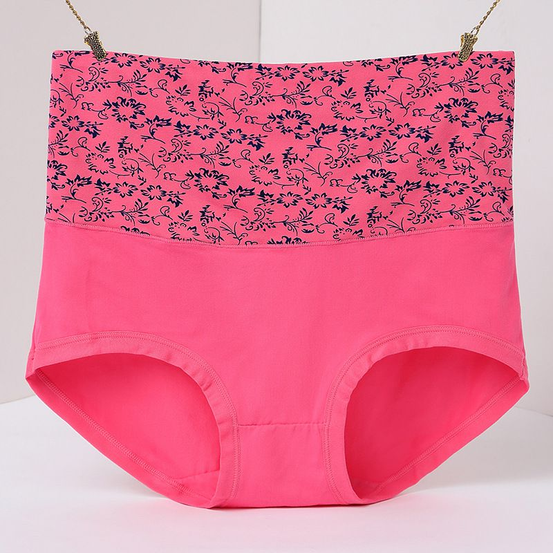 2017 Fashion Women Large Lace Underwear Plus Size Loose Ladies Panties XXXL High-Rise Breathable Briefs Hips Lifted