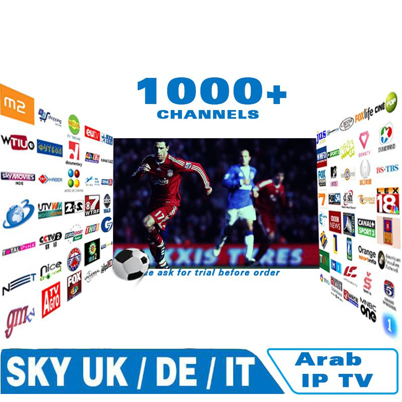 internet IPTV for Arabic Europe italy french 1000 channels