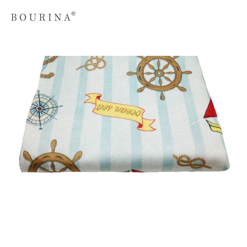 Bourina Print Cartoon Throw Woven Modern Bed/Sofa/Car/Plane Decor Tasteless Warm/Cozy Blanket Spring/Autumn for Gift Couverture