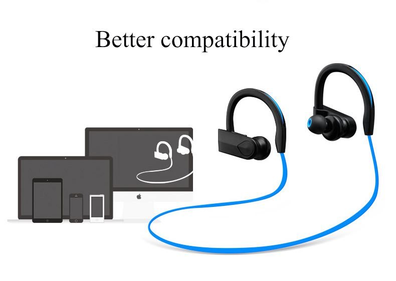 Bluetooth Headphone,Sports Bluetooth Headset Noise Cancel Wireless Earphone With Microphone Stereo Handfree Bluedio Sweatproof In Ear Earbud