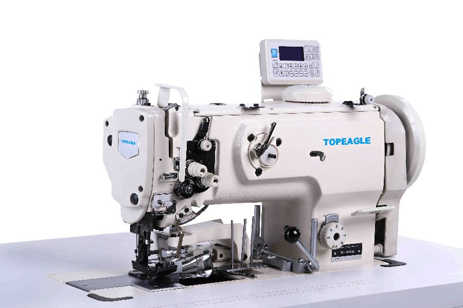 TCF-1510-AE Flat bed Single needle Compound feed Large Horizontal Hook Lockstitch Sewing Machine with Side Cutter and Binding