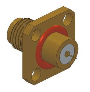 SMA Flange Mount Connector