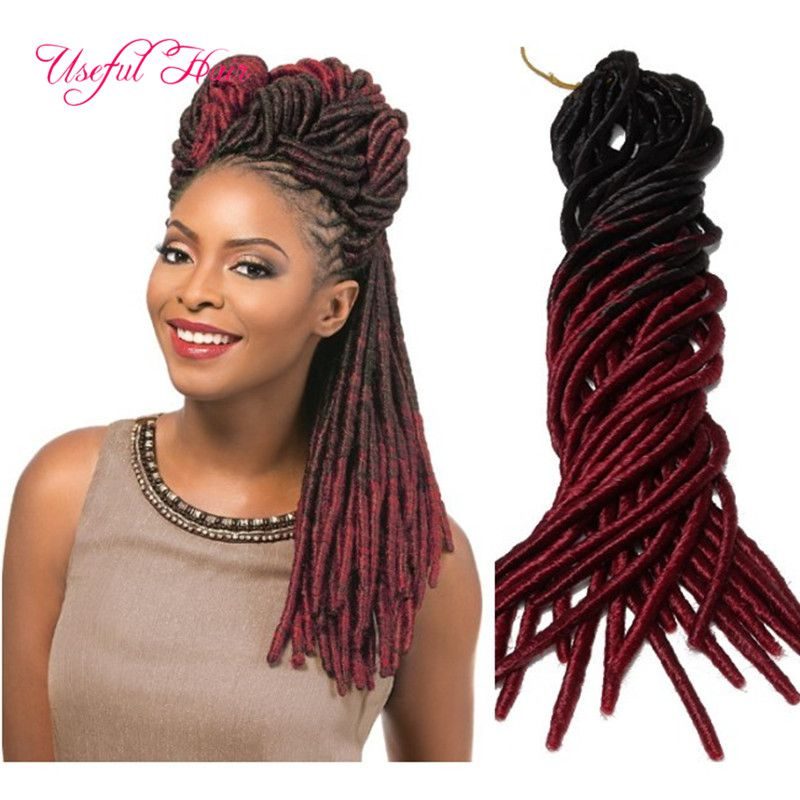 Fob Crochet Hair Extension Two Tone Straight Dreadlocks Braids Drop