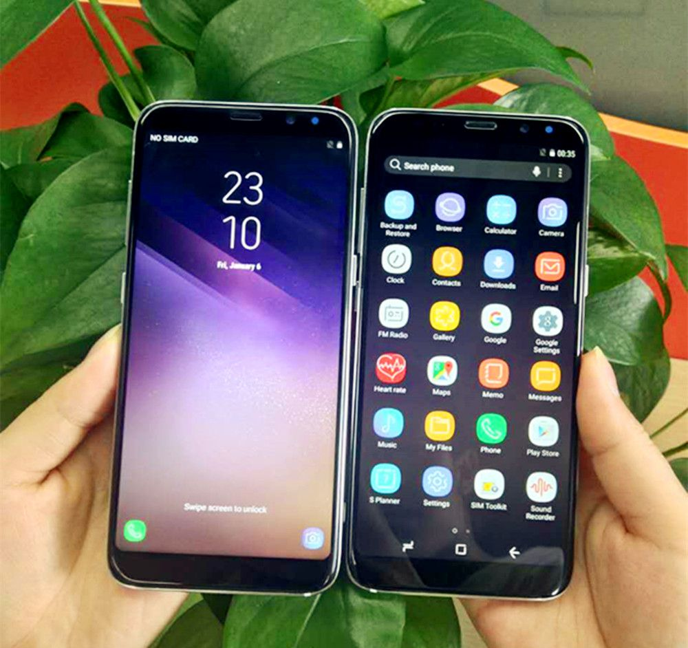 2018 Hot Original unlocked Goophone S8 Plus Fingerprint Show 4G LTE Octa core 64GB Rom smart Phone 1920*1080 Android Cell Phone